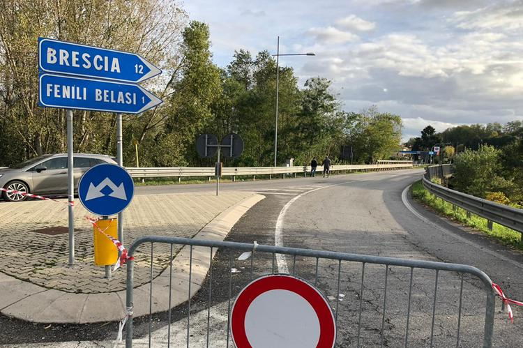 Capriano del Colle, ponte chiuso