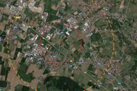 Brillamento di Adro: l'area rossa e gialla tra Adro ed Erbusco - © www.giornaledibrescia.it