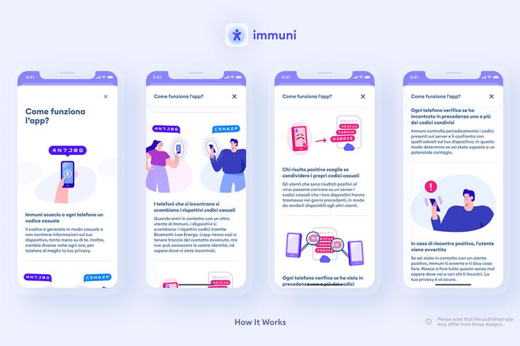app Immuni screen