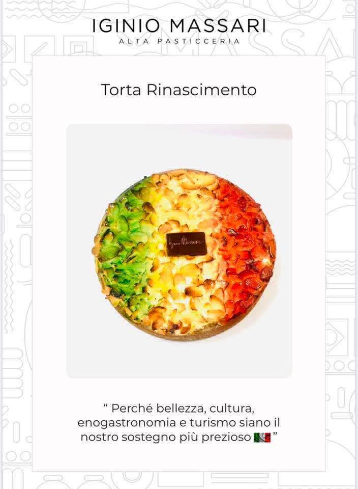 Iginio Massari sforna la torta Rinascimento per l'Italia