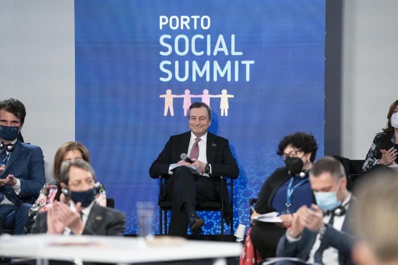Mario Draghi, partecipa al Porto Social Summit, a Oporto - Foto © www.giornaledibrescia.it