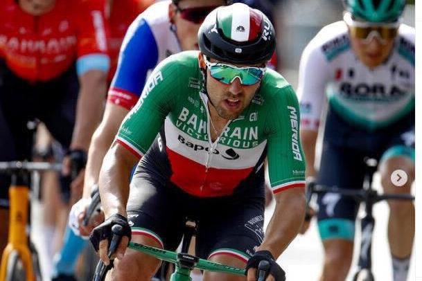 Sonny Colbrelli al Giro del Benelux 2021 - Foto Ansa  © www.giornaledibrescia.it