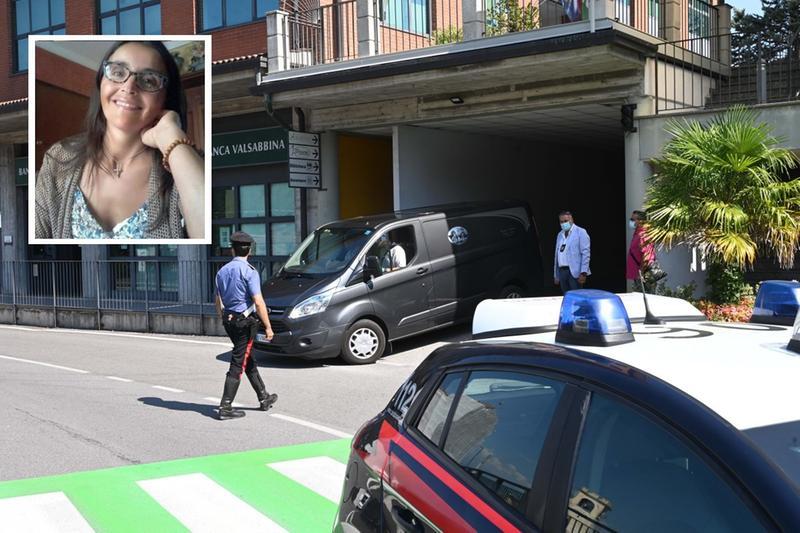 Carabinieri ad Agnosine, teatro dell'omicidio di Giuseppina Di Luca (nel riquadro) - © www.giornaledibrescia.it