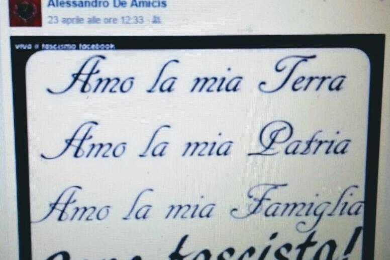 Il post di De Amicis incriminato - © www.giornaledibrescia.it